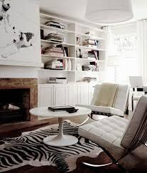 black and white zebra rug