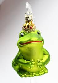 Froschkönig Baumschmuck Aus Glas