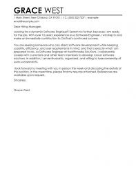 Cover Letter Examples Software Engineer