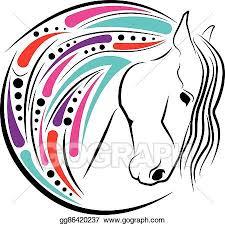 horse head clip art color. Exellent Color Horse Head Color Inside Head Clip Art Color S
