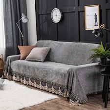 Vintage couch Green Velvet Image Unavailable Jventure Designs Amazoncom Plush Sofa Slipcover1piece Vintage Lace Suede Couch