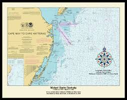 Nautical Charts New England Coast Nautical Chart Picture Frames