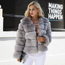 2019 women vintage fluffy faux fur coat women short furry fake fur winter outerwear pink coat 2018 autumn casual party overcoat xl from jingju