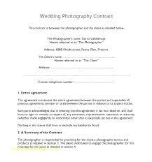 Australian Photography Contract Template Bigdatahero Co