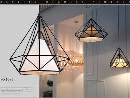 american vintage cage pendant lights eu warehouse black diamond pendant lamp diamond creative restaurant lights