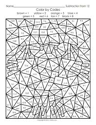 Color By Number For Adults Only Coloring Pages Color By Numbers