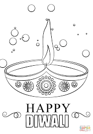 Small Picture Diwali candle coloring page Diwali diya India Indian