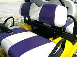 seat covers for golf cart go custom vinyl front and purple sunbrella club car