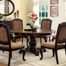 cherry wood dining room table. Wonderful Cherry Furniture Of America Oskarre Brown Cherry WoodVeneer Round Dining Table Intended Wood Room