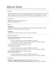 Sample Resume In Doc Format Free Download Free Resume Template Word