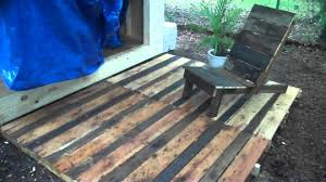 outdoor pallet wood. Pallet Wood Project- A Deck And Chair, Made From Free, Recycled (DIY Decking) - YouTube Outdoor