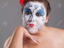 stock photo woman with circus makeup