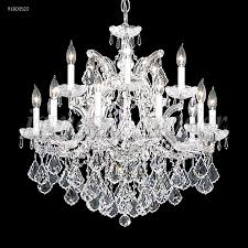 james r moder 91800s22 maria theresa grand 16 light crystal chandelier in silver with imperial crystal clear