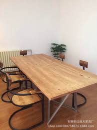 wrought iron and wood furniture. American Country Wood Furniture Creative Wrought Iron Conference Table Desk And H