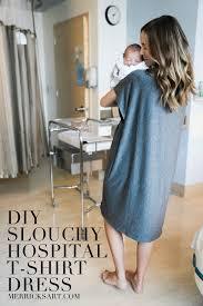 diy friday slouchy hospital t shirt dress