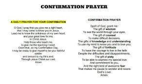 confirmation prayers