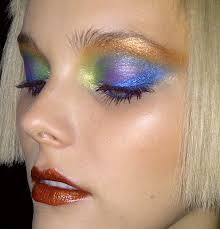 this 80s style makeup is fabulicious mulitcolour