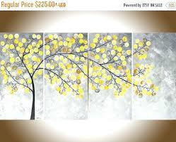 yellow and grey painting abstract painting yellow grey painting large wall art modern art impasto canvas yellow and grey painting wall  on black grey and yellow wall art with yellow and grey painting 3 piece canvas painting abstract oil