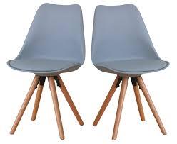 Paket 2er Set Esszimmerstuhl Nelle Küchenstuhl Esszimmer Küche Stuhl Stühle Eiche Grau Dynamic 24de