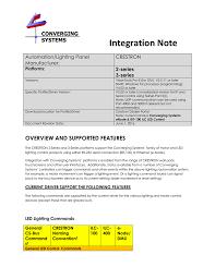 Dmx Lighting Controller Programming Part 1 Integration Note Converging Systems Manualzz Com