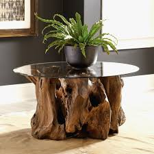 teak root coffee table round entryway table line at