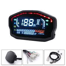 Motorcycle Universal Led Liquid Crystal <b>Speedometer</b> Digital ...