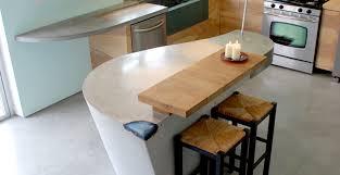 concrete kitchen countertop with wood drainboard dc custom concrete concrete exchange