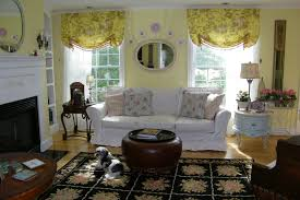 Yellow Curtains For Living Room Maison Decor French Country Enchanting Yellow White