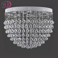 youlaike modern crystal chandelier lighting for living room luxury within flush mount crystal chandelier