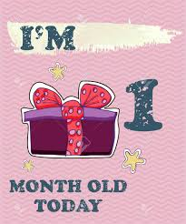 One Month Old Baby Milestone Vector Baby Milestone Card For Girl Or Boy Today Im 1 Month