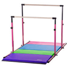 3ft to 5ft high pink 3play bars uneven bars parallel bars and 8ft