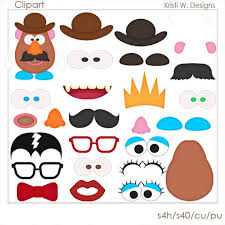 Potato head together, they'll want to move on to making extraterrestrial spuds: Digital Scrapbooking Clipart Mr Potato Head Exclusive Etsy