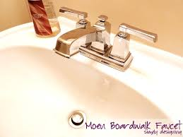 how to install a moen boardwalk faucet moendiyer diy bathroom