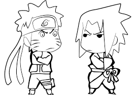Small Picture Coloring Pages Anime Naruto Sasuke Free Cartoon Coloring pages