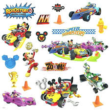 mickey mouse clubhouse decals for wallickey mouse friends roadster racers wall decals race cars stickers mickey mouse clubhouse wall sticker sheet