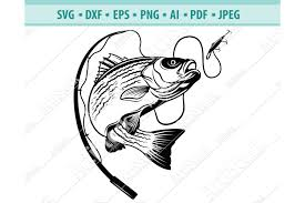 All contents are released under creative commons cc0. Bass Fishing Svg Fishing Svg Fishing Hooks Png Dxf Eps 460495 Svgs Design Bundles