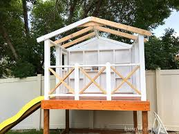 complete your diy playhouse with an easy to build roof housefulofhandmade com