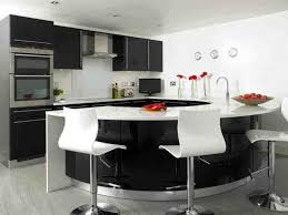 modern curved kitchen island. Delighful Island Modern Black And White Curved Kitchen Island  Awesome Contemporary  Decoration Inspiration With Design Furniture  Throughout S