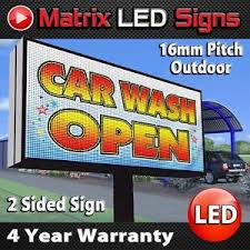 Details About Led Sign Outdoor Full Color Double Sided Led Programmable Message Digital Sign