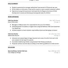 childcare resume template childcare resume sample resume for child care  resume objective for childcare no experience