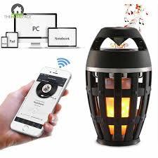 Flame Atmosphere Lamp Light Bluetooth Speaker