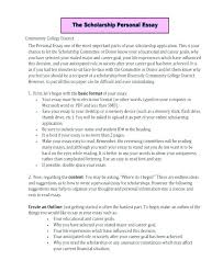 Format Writing Scholarship Essay Sample Essays Financial Need For