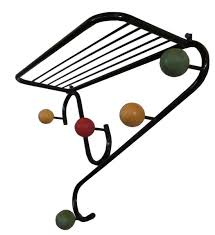 Coloured Ball Coat Rack Extraordinary A 32s French Hat And Coat Rack A Black Painted Steel Frame Twists