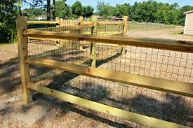 Wood farm fence Farmhouse Seegars Fence Company Residential Farm Ranch Fence Installations Custom Fences Gates