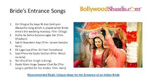 bollywood songs for wedding Wedding Entrance Indian Songs indian grooms and their grand baraats; 6 bride's entrance songs best indian wedding entrance songs