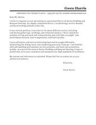 Cover Letter For A Server 23 Server Cover Letter Cover Letter Resume Pinterest Cover