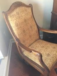 Antique American Upholstered Rocking Chair