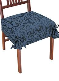 damask chair covers color blue