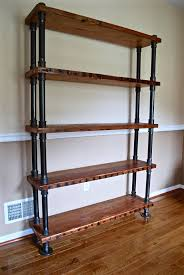 Industrial Pipe and Wood Bookshelf, Reclaimed Wood Bookshelf, Reclaimed  Wood Bookcase, Industrial Pipe Bookshelf, Rustic Bookshelf