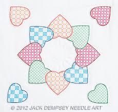 Jack Dempsey Needle Art Patchwork Hearts 18
